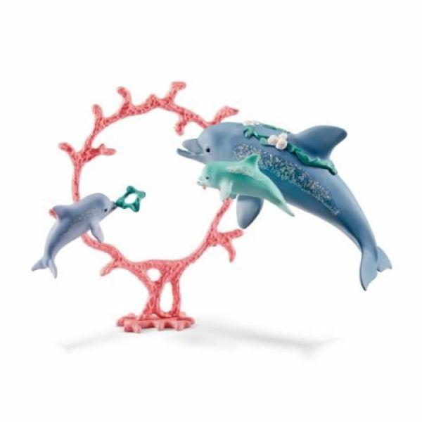 SCHLEICH 41463 - Bayala - Delfin-Mama mit Babies