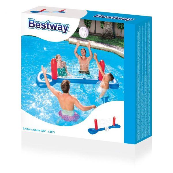 BESTWAY 52133 - Wasserspielzeug - Volleyball Set mit Netz + Ball