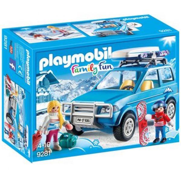 PLAYMOBIL 9281 - Family Fun Wintersport - Auto mit Dachbox