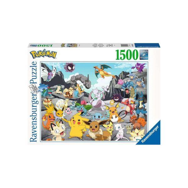 RAVENSBURGER 16784 - Puzzle - Pokémon Classics, 1500 Teile