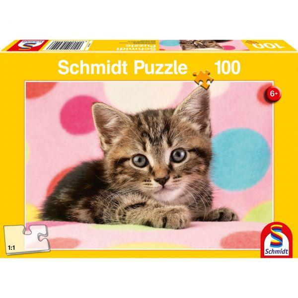 SCHMIDT 56249 - Puzzle - Süßes Katzenkind, 100 Teile