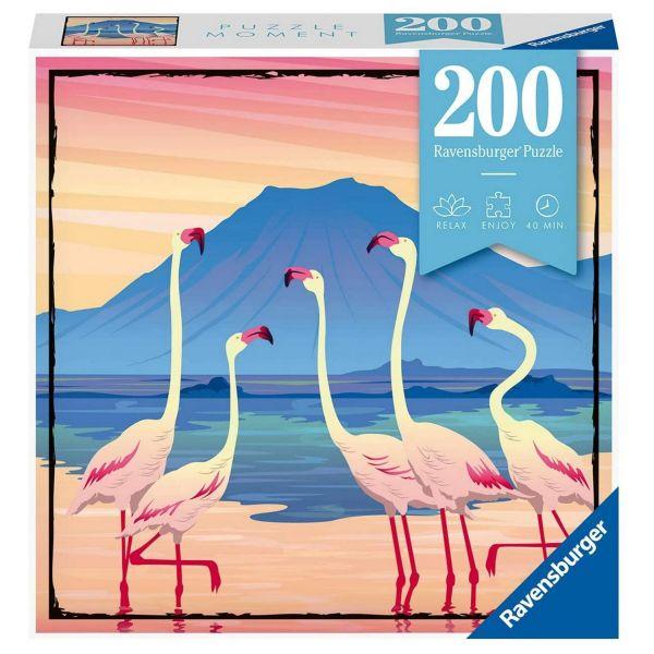 RAVENSBURGER 12961 - Erwachsenenpuzzle - Flamingos Tanzania, 200 Teile