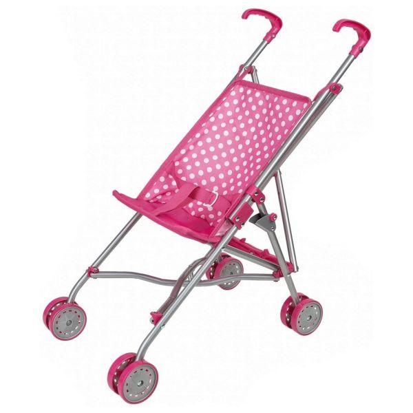 IDENA 40068 - Puppen - Buggy Puppenwagen zusammenklappbar, pink