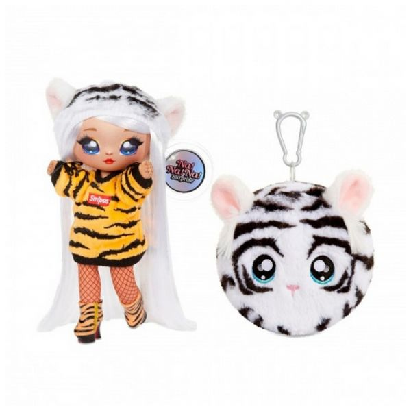 MGA 571742E7C - Na! Na! Na! Surprise Bianca Beng - 2in1 Fashion Doll + Plüschtasch, Serie 4