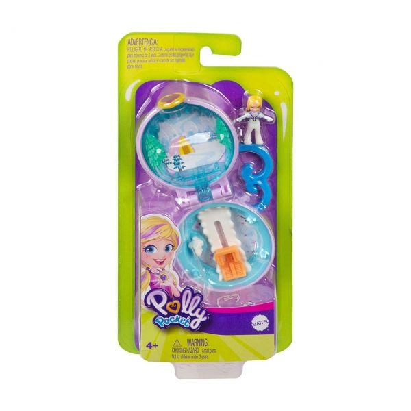 MATTEL GKJ41 - Polly Pocket - Mini-Schatulle Pollys Schneemobil