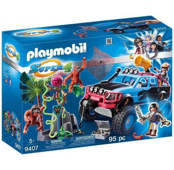 PLAYMOBIL 9407 - Super 4 - Monster Truck mit Alex und Rock Brock