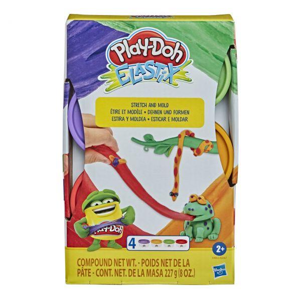 HASBRO E9863 - Play-Doh - Elastix Spielknete, 4er-Pack, LILA & GRÜN