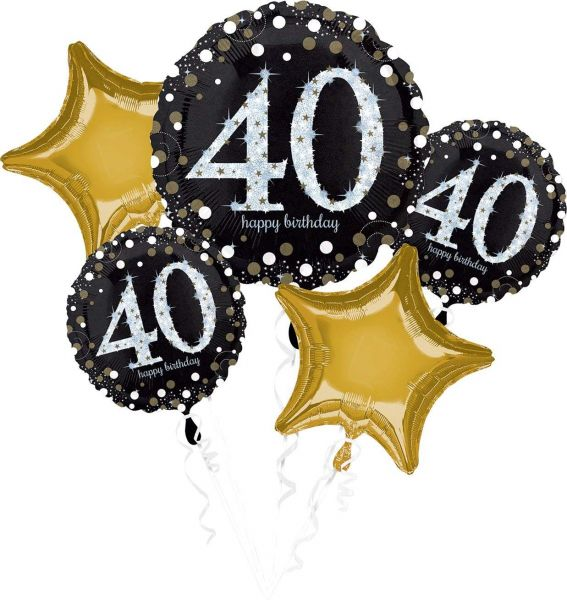 AMSCAN 3214401 - Geburtstag & Party - Folienballon Set 40