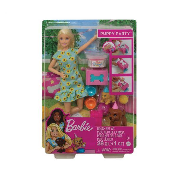 MATTEL GXV75 - Barbie - Hündchenparty Puppe und Spielset