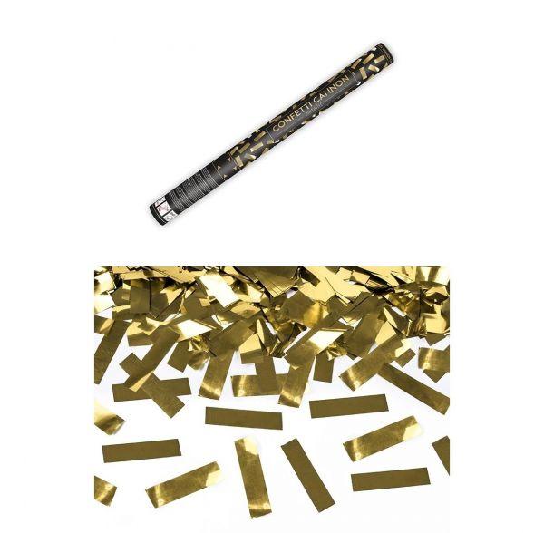 Konfetti Kanone Gold 60cm