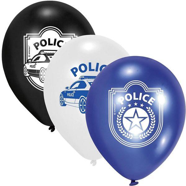 AMSCAN 998292 - Geburtstag & Party - Polizei Latex Luftballons, 6 Stk