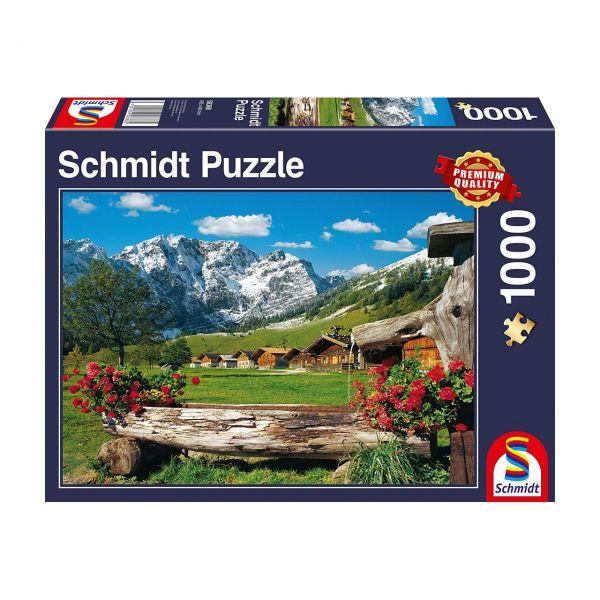 SCHMIDT 58368 - Puzzle - Blick ins Bergidyll, 1000 Teile
