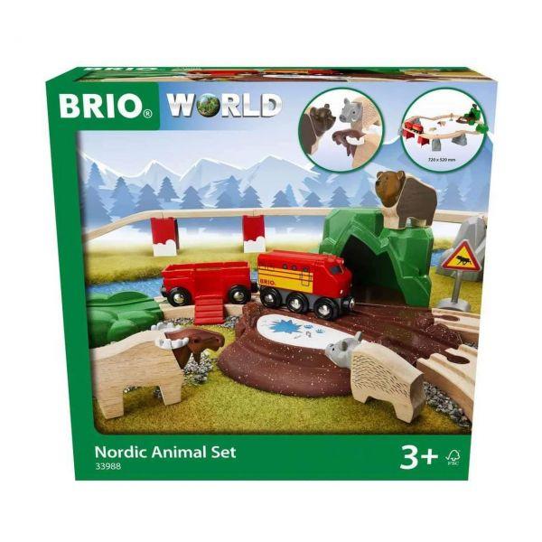 BRIO 33988 - World - Nordische Waldtiere Set