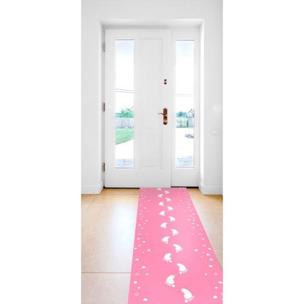 FOLAT 09284 - Geburtstag & Party - Geburt Mädchen Läufer Teppich, rosa