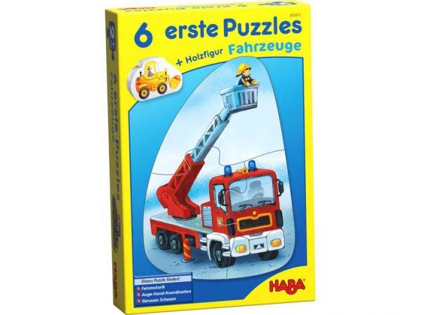 HABA 303311 - 6 erste Puzzles - Fahrzeuge