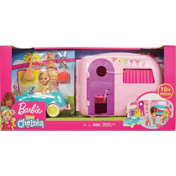 MATTEL FXG90 - Barbie - Chelsea Camper und Puppe Spielset