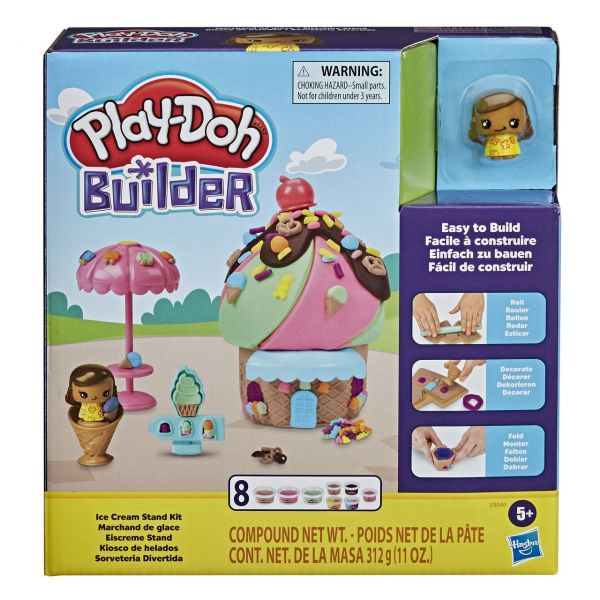 HASBRO E9040 - Play-Doh Builder - Eiscreme Stand