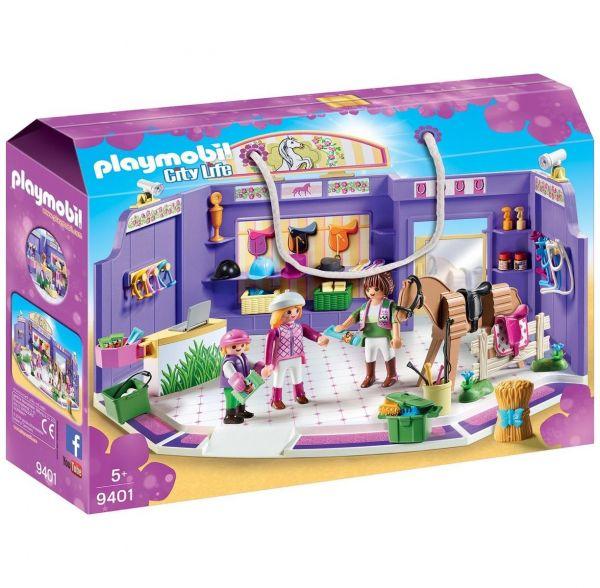 PLAYMOBIL 9401 - City Life Einkaufen - Einkaufspassage, Reitsportgeschäft