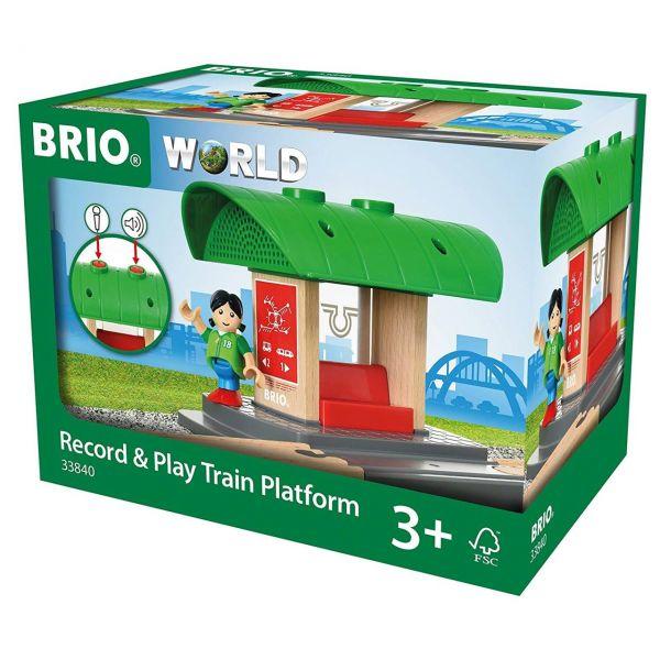 BRIO 33840 - Bahn - Bahnhof mit Aufnahmefunktion