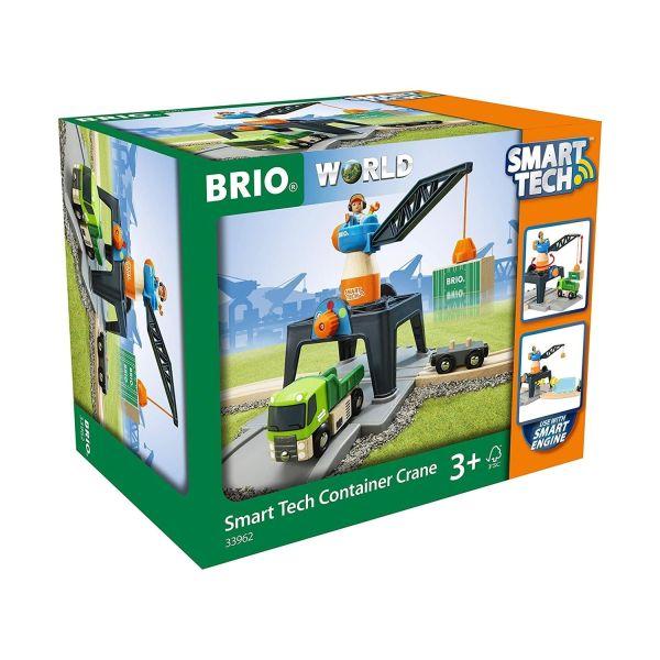 BRIO 33962 - Smart Tech - Große Container Verladekran Station