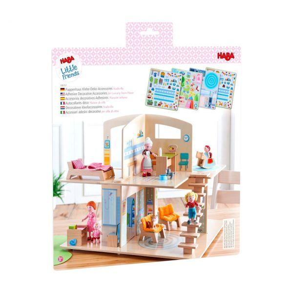 HABA 306157 - Little Friends - Puppenhaus Klebe-Deko-Accessoires Stadtvilla