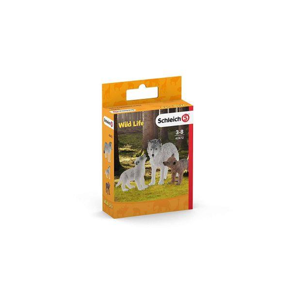 SCHLEICH 42472 - Wild Life - Wolfsmutter mit Welpen