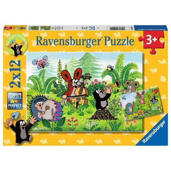 RAVENSBURGER 05090 - Puzzle - Gartenparty mit Freunden, 2x12 Teile