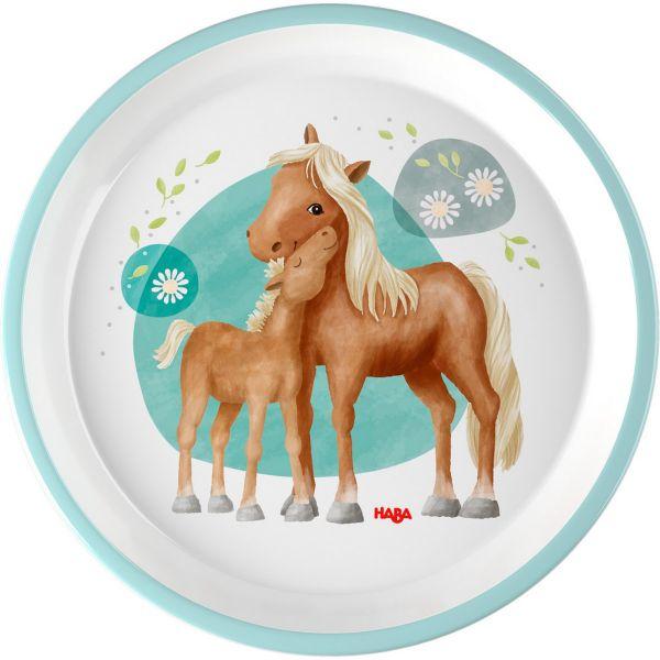 HABA 305700 - Kindergeschirr - Teller, Pferde