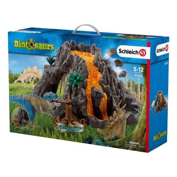 SCHLEICH 42305 - Dinosaurs - Riesenvulkan mit T-Rex