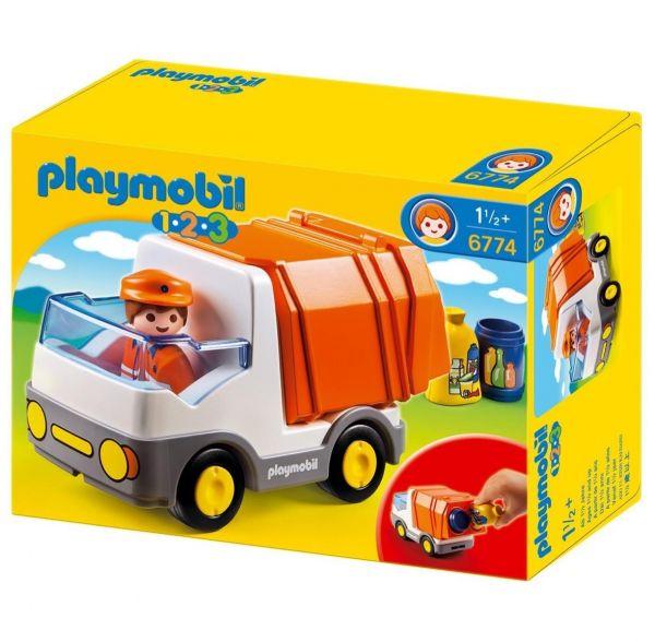 PLAYMOBIL 6774 - 1.2.3 - Müllauto
