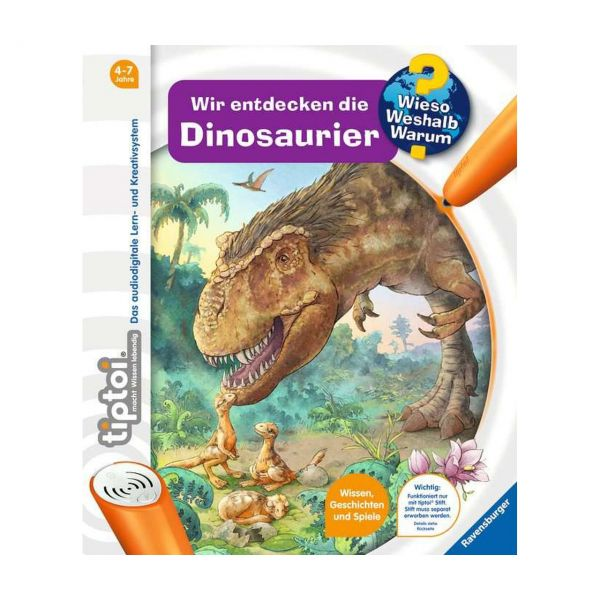 RAVENSBURGER 32924 - tiptoi® Buch - Wir entdecken die Dinosaurier