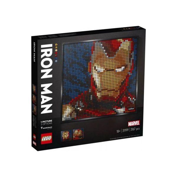 LEGO 31199 - Art - Wandbild - Marvel Studios Iron Man - Kunstbild