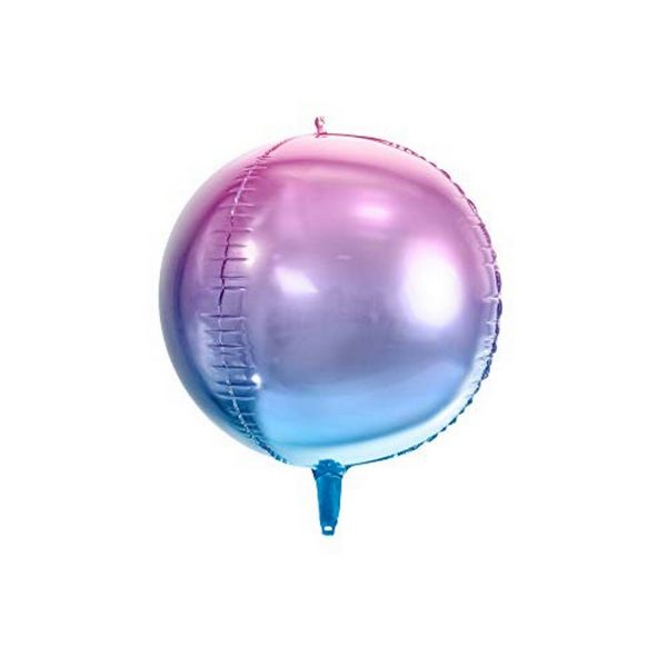 PD FB39-014 - Folienballon - Kugel, lila-blau irisierend, ca. 35cm