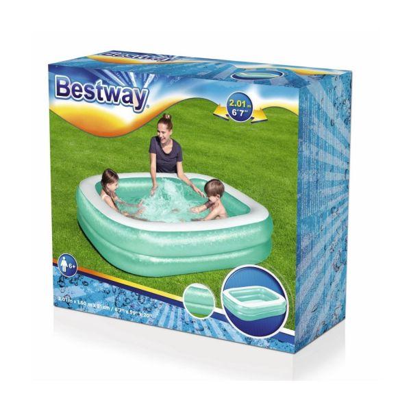 BESTWAY 54005 - Planschbecken - Family Pool, 201x150x51cm