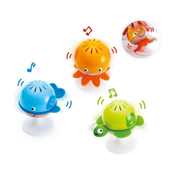 HAPE E0330 - Baby Musik - Saugnapf Rasselset