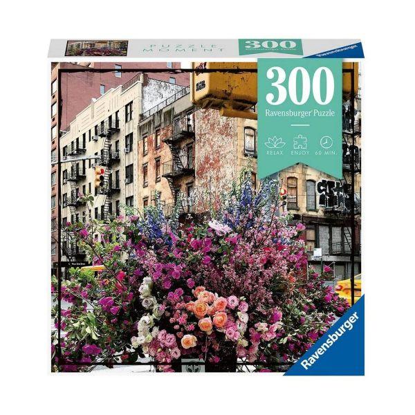 RAVENSBURGER 12964 - Erwachsenenpuzzle - Flowers in New York, 300 Teile