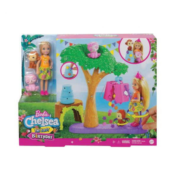 MATTEL GTM84 - Barbie - Dschungelabenteuer Chelsea Puppe The Lost Birthday Pinataspaß