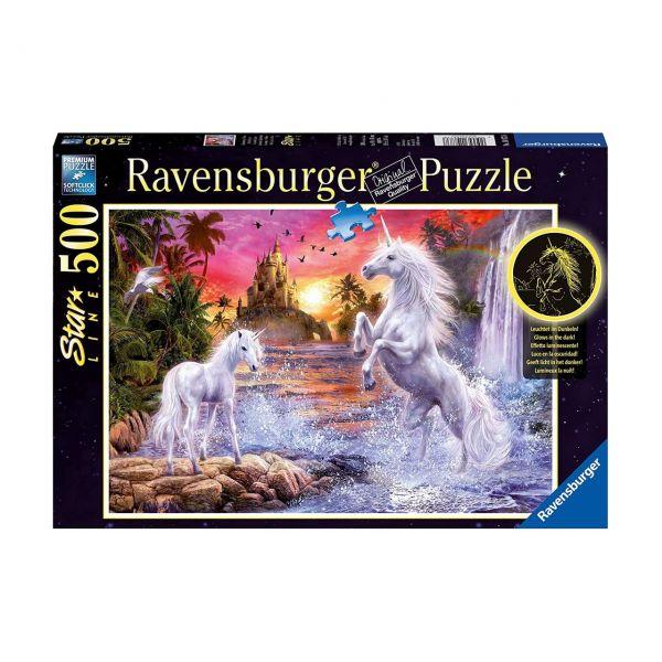 RAVENSBURGER 14873 - Puzzle - Star Line, Einhörner am Fluss, 500 Teile