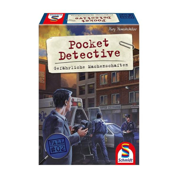 SCHMIDT 49378 - Familienspiel - Pocket Detective, Gefährliche Machenschaften