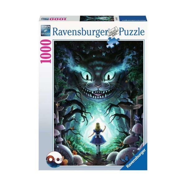 RAVENSBURGER 16733 - Puzzle - Abenteuer mit Alice, Grinsekatze, 1000 Teile