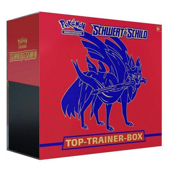 POKÉMON 45182 - Schwert & Schild - Top Trainer Box, ZACIAN, Rot