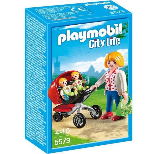 PLAYMOBIL 5573 - City Life - Zwillingskinderwagen