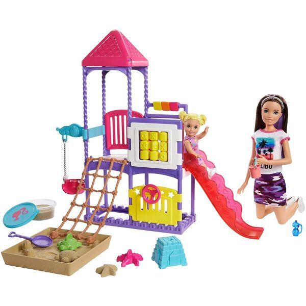 MATTEL GHV89 - Barbie - Skipper Babysitters Spielplatz und Puppen