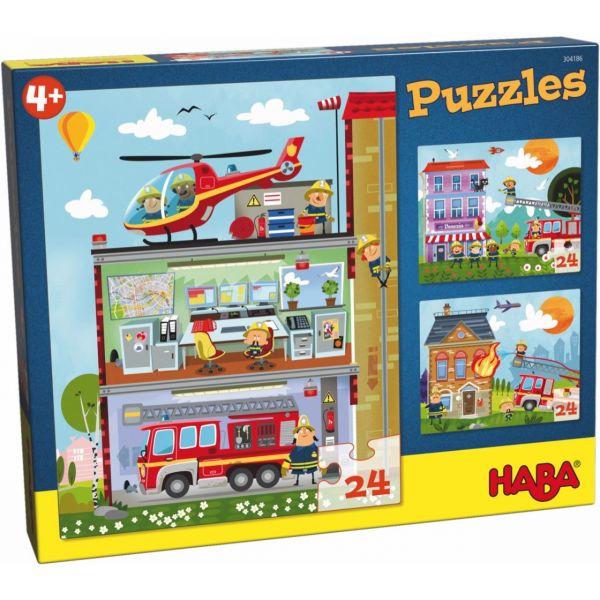 HABA 304186 - Puzzle - Kleine Feuerwehr, 24 Teile