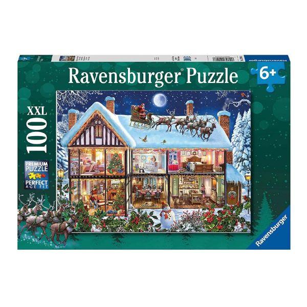 RAVENSBURGER 12996 - Puzzle - Weihnachten zu Hause, 100 Teile XXL