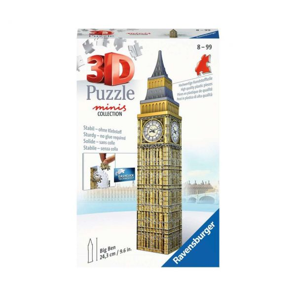 RAVENSBURGER 11246 - 3D Puzzle - Mini Big Ben, 54 Teile