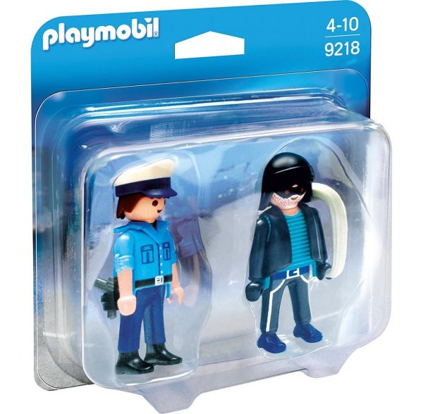 PLAYMOBIL 9218 - Duo Packs - Polizist und Langfinger