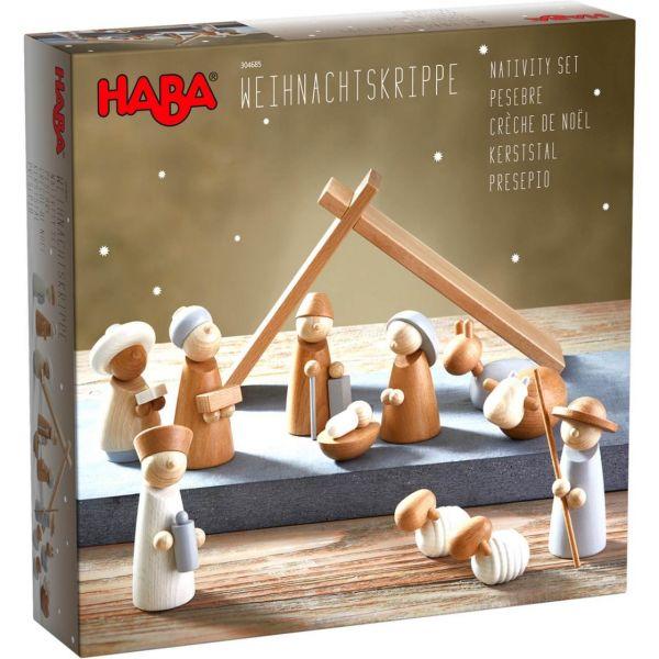 HABA 304685 - Holzspielzeug - Weihnachtskrippe