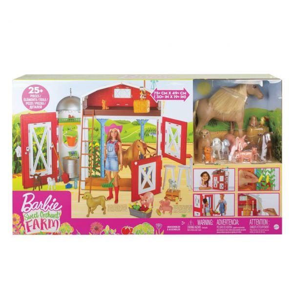 """MATTEL GJB66 - Barbie - """"Spaß auf dem Bauernhof"""" Scheunen Spielset mit Tieren"""