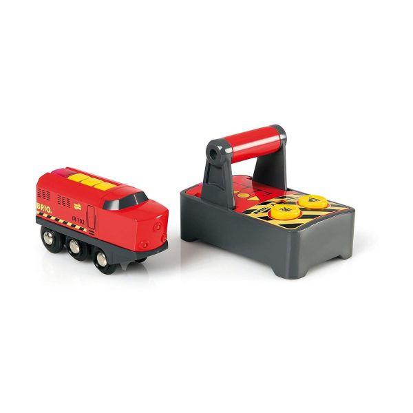 BRIO 33213 - Smart Tech - IR-Frachtlok – Elektrische Lokomotive Fernsteuerung